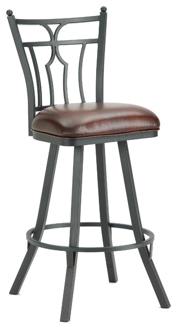 Iron Mountain Randle 3003126 Swivel Counter Stool 26 Quot Seat