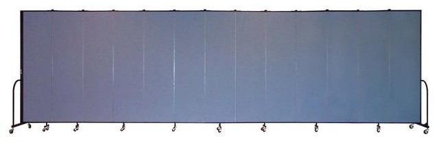Freestanding 88 in Portable Room Divider w 13 Panels