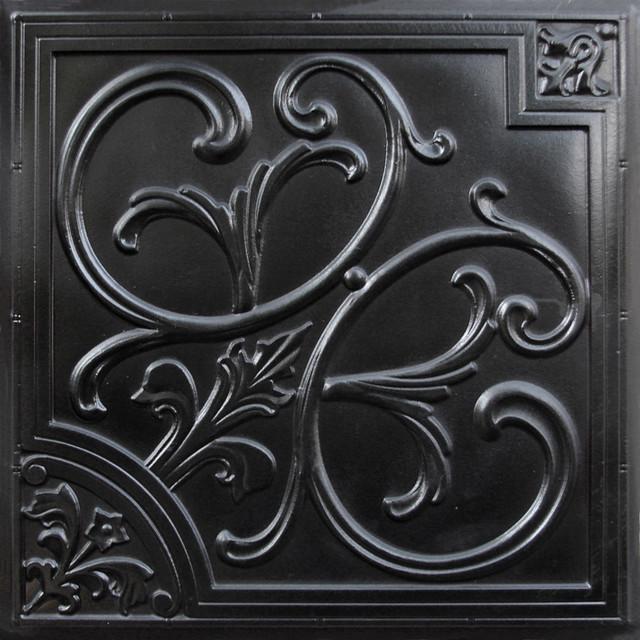204 faux tin ceiling tile 24x24 black ceiling tile. Black Bedroom Furniture Sets. Home Design Ideas