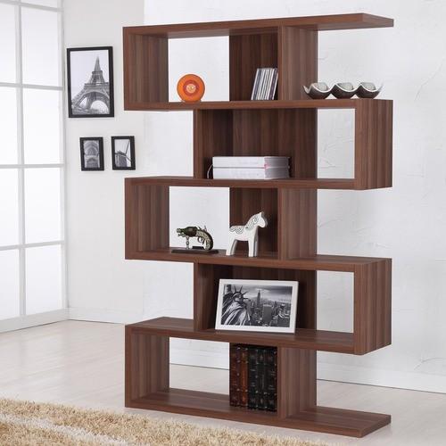Enitial Lab Marcel Modern Walnut Bookcase/Display Stand, Walnut - Modern - Bookcases - by Meijer
