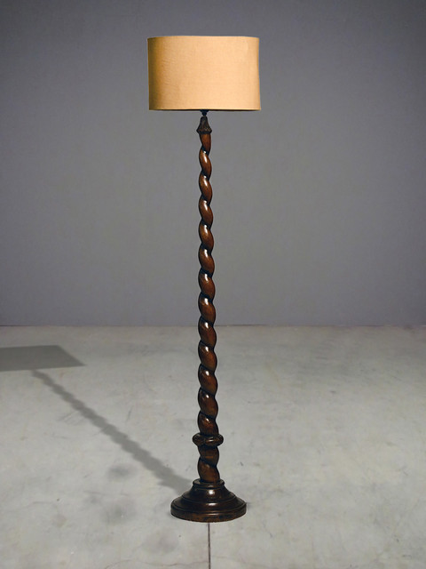 Spiral floor lamp classic eclectic floor lamps for Spiral wood floor lamp