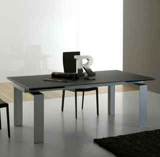 39 alu 39 modern extending dining room table by compar for Dining room tables london