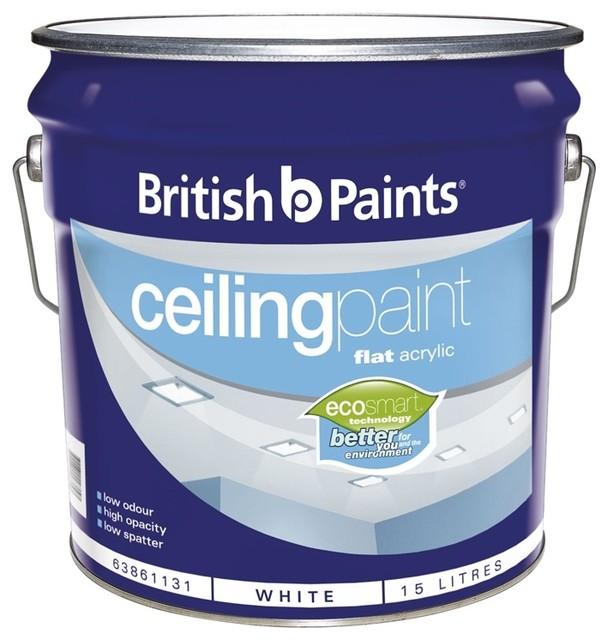 British paints 15l white ceiling paint contemporary paint by - British paints exterior decor ...