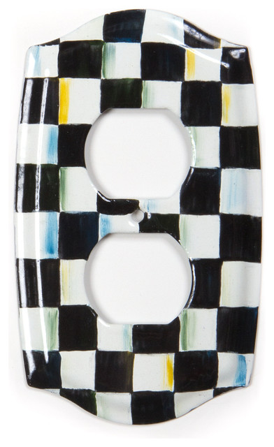 Courtly Check Double Outlet Cover Mackenzie Childs