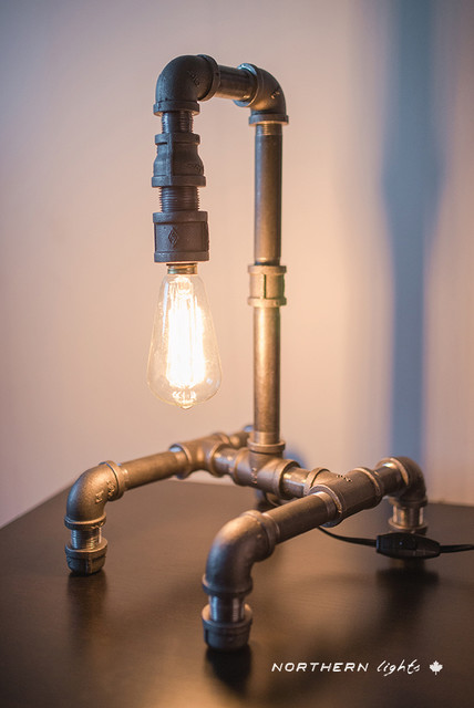 Iron pipe table lamp for How to make a pipe lamp