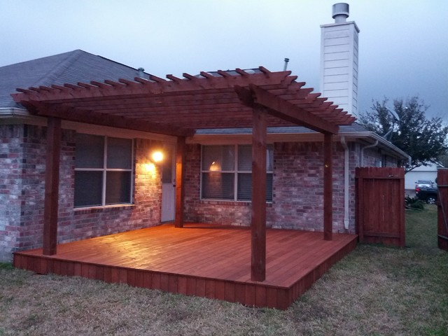16x16 Pergola Deck Craftsman Other Metro By