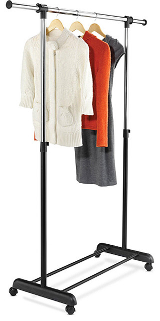 Honey Can Do Expandable Garment Rack Contemporary Clothes Racks By Over