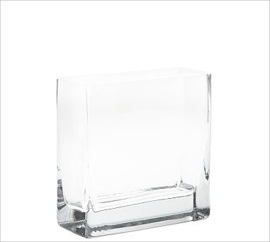 Rectangular Vase Long Low Traditional Vases By