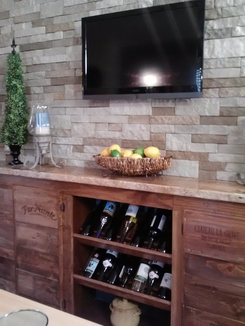 Have a few wood wine crates laying around? Build a wine cabinet!