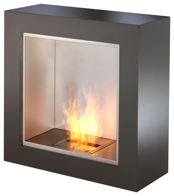 Ecosmart fire cube modern indoor fireplaces los for Ventless fireplace modern