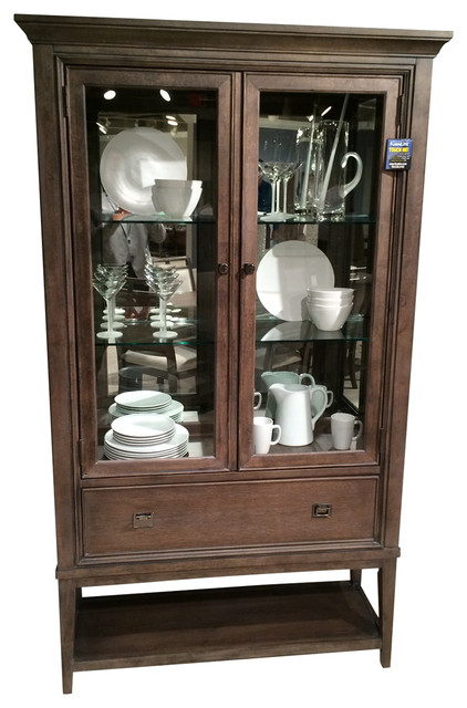 American drew park studio curio china light oak china cabinets and hutches by bedroom for American drew oak bedroom furniture