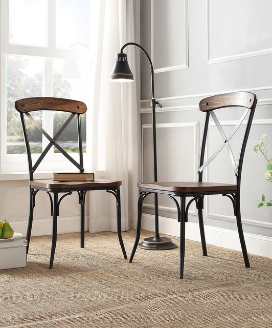 Bosworth Rustic Dining Chair Set Of Two Contemporary