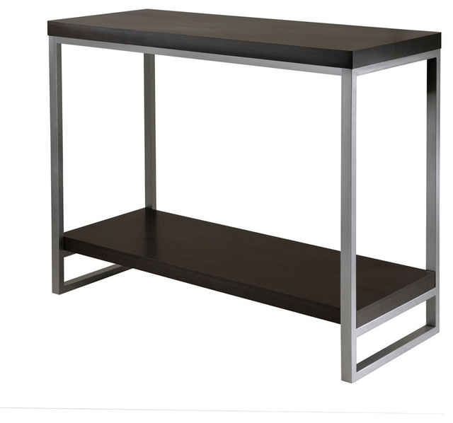 Winsome Wood Jared Console Table With Enamel Steel Tube