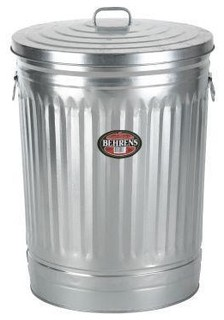 31 Gallon Steel Trash Can - Outdoor Trash Cans - by The ...