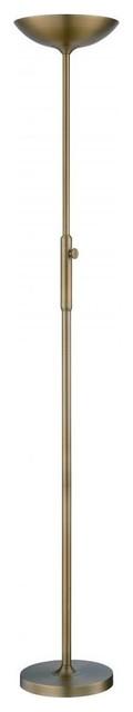Lite source inc led torch lamp antique brass led bulb for Modern torch floor lamp