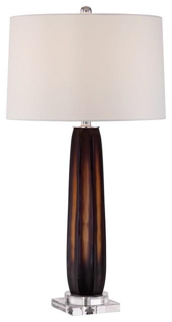 Possini euro design mazara brown art glass table lamp for Possini lighting website