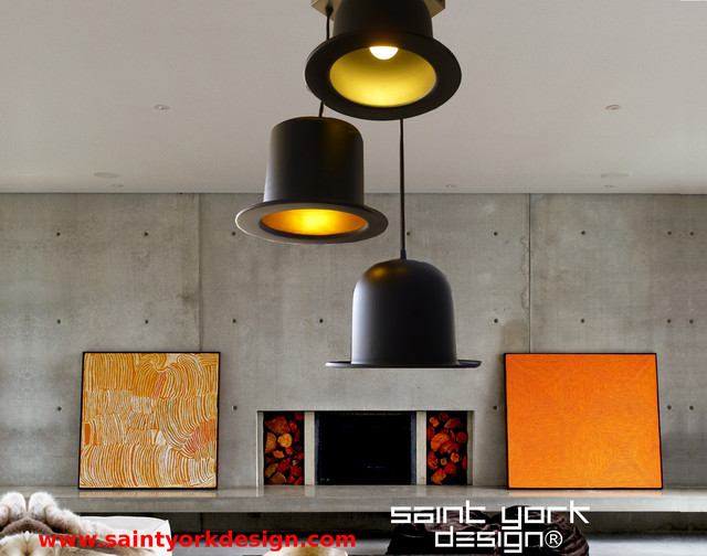 suspension luminaire 3 chapeaux moderne salon other metro par saint york design. Black Bedroom Furniture Sets. Home Design Ideas
