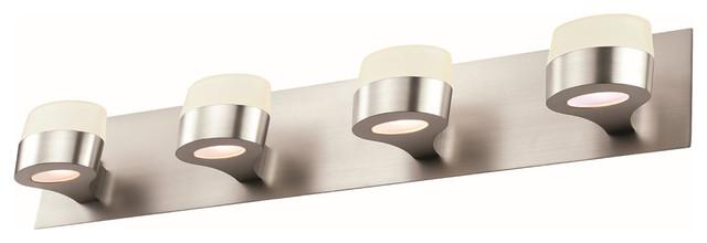 Dvi lighting dvp6844bn four light vanity moderno - Lampade a parete per bagno ...