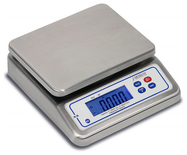 Detecto portion scale digital stainless steel 30 lb for Traditional kitchen scales