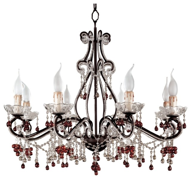 Parisian eight light amber chandelier traditional chandeliers by lighting luxury style - Popular chandelier styles ...