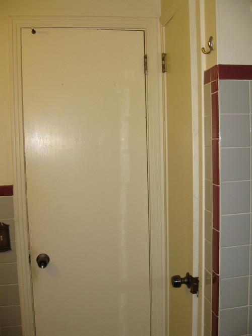 Vintage Maroon Gray Tile Bathroom Decisions
