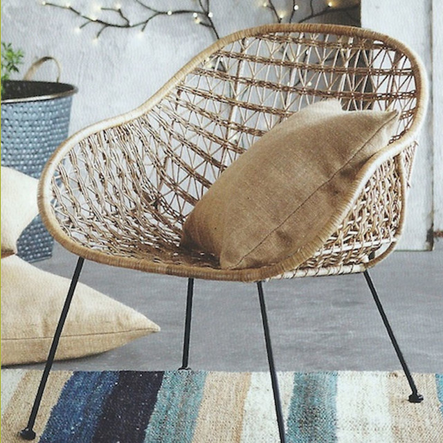 Comet Basket Chair - Eclectic - Armchairs And Accent ...