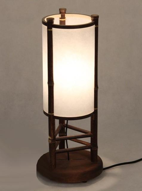 modern handmade bamboo table lamp and floor lamp. Black Bedroom Furniture Sets. Home Design Ideas
