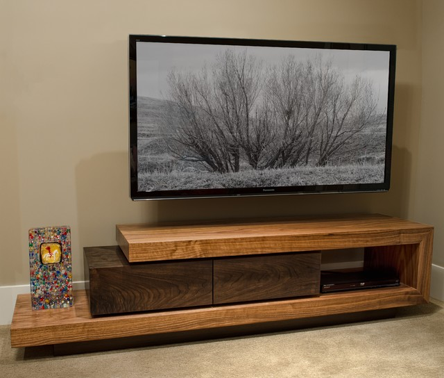 Walnut TV Stand  Contemporary  Buffets And Sideboards  -> Tv Stand And Sideboard Set