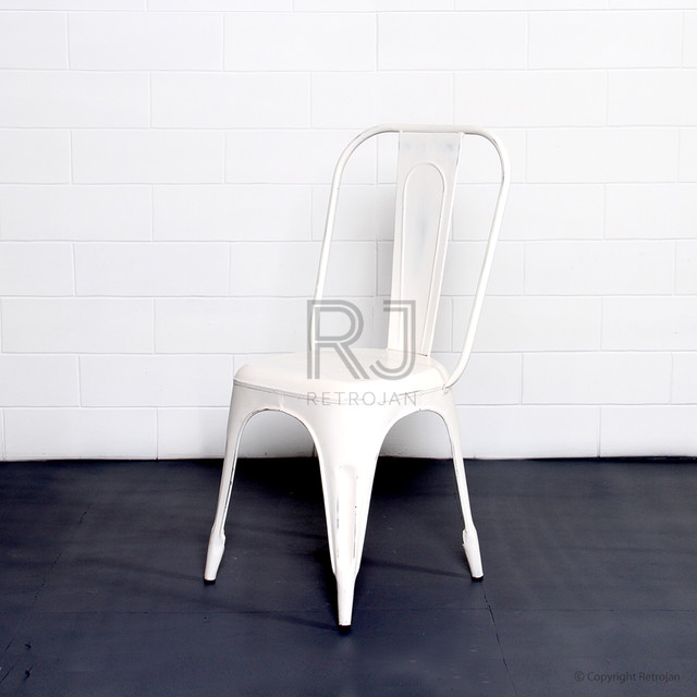 FRANKIE CAFE DINING CHAIRS WHITE