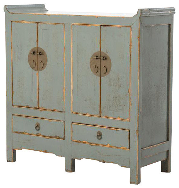 Tanzi Small Cabinet 4-Door With 2-Drawers - Asian - Accent Chests And Cabinets - by Autumn-Elle ...