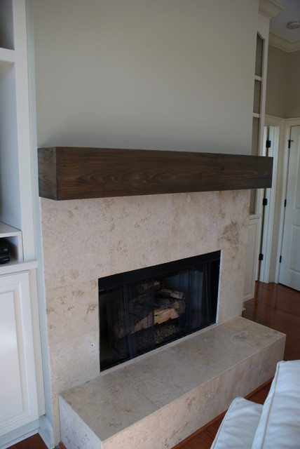 Cypress Mantle Traditional Indoor Fireplaces Jacksonville By Paravan Wood Design