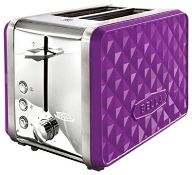 Bella Diamonds 2 Slice Toaster Purple Contemporary