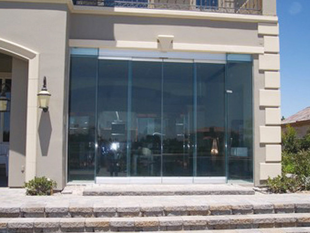 Automatic door modern front doors charleston by