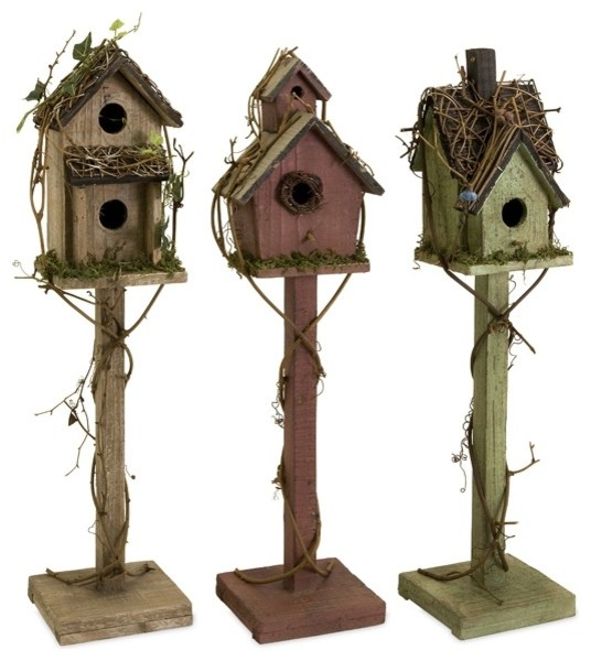 Imax 29094 3 Carthage Standing Birdhouses Set Of 3