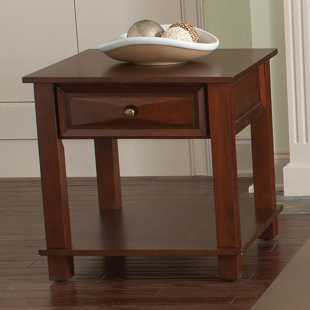 Mason End Table Cherry Modern Side Tables And End Tables