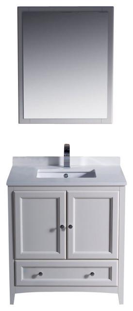 30 inch single sink bathroom vanity antique white - 30 inch white bathroom vanity with sink ...