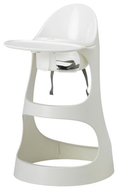 Leopard Highchair with tray - white - Contemporary - High ...
