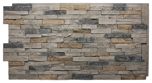 dry stack faux stone panels quarry gray classico di