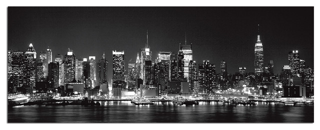 Tempered Glass Wall Art, New York City Skyline 1 - Traditional - Prints And Posters - by Vandue ...