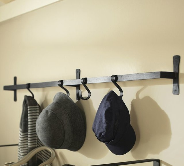 Blacksmith Wall Mount Bar With Hooks Traditional Wall