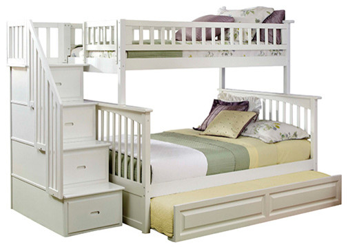 Columbia Staircase Bunk Bed Twin over Full with Trundle in