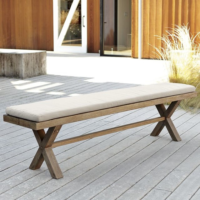Contemporary Outdoor Benches: Jardine Bench Cushion