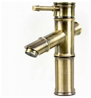 JollyHome Bamboo Design Antique Bathroom Faucet Modern Bathroom Faucets A