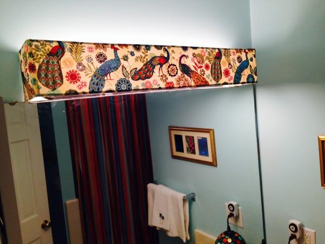 Custom Lampshade - Bathroom Vanity - Royal Peacock - Lampshade