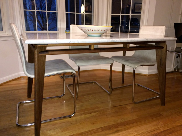 Walnut and Marble Dining Table : modern dining tables from www.houzz.com.au size 640 x 480 jpeg 79kB