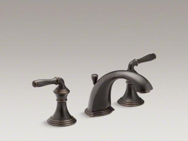 KOHLER Devonshire(R) widespread bathroom sink faucet with lever ...