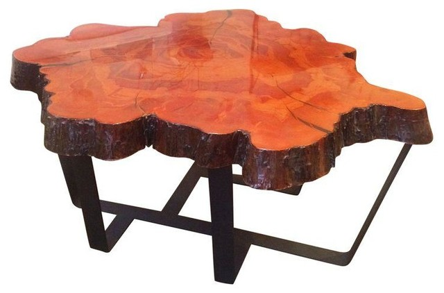 Petrified wood lava coffee table coffee tables accent tables - Cypress Slab Coffee Table Modern Coffee Tables
