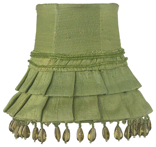 Skirt Dangle Chandelier Shade, Green - Traditional - Lamp ...