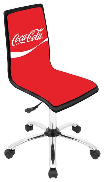 coca cola printed office chair black red contemporain chaise de bureau chicago par. Black Bedroom Furniture Sets. Home Design Ideas