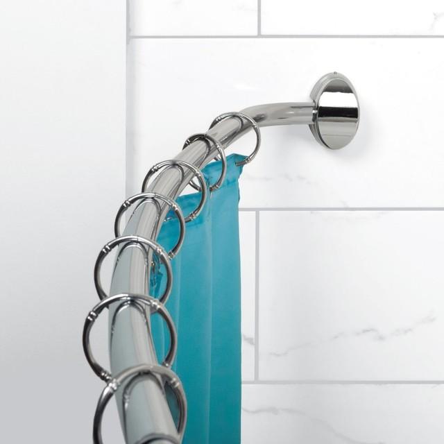 Zenna Home E35603 Single Curved Shower Rod